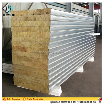 Factory Price Wall And Roof Rockwool Sandwich Panel