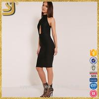 Hot selling sexy see-through lace midi dress, elegant women midi formal dress, midi bodycon dresses