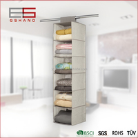 Most fashion closet organizer fabric 6 shelves storage hanging organizer for clothes,toys,sundries