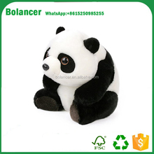 Hot selling lovely soft black and white plush toy panda doll for sale