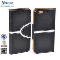 Veaqee 2015 new products leather flip phone case for iphone 6