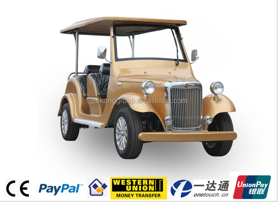 New EEC approval ECAR alufer classic/bubble/vintage car suitable for Villas Upscale clubs Golf courses Parks