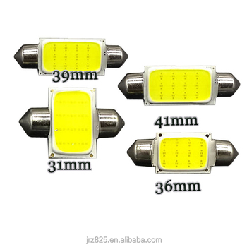C5W LED Festoon COB 12 Chips 12chip 31mm 36mm 39mm 41mm LED Car interior lights lamp bulb Dome light White DC 12V
