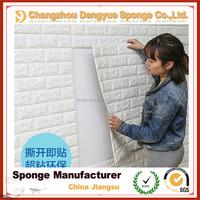 Korean style PE foam 3d brick self-adhesive waterproof wallpapers, DIY brick wall paper