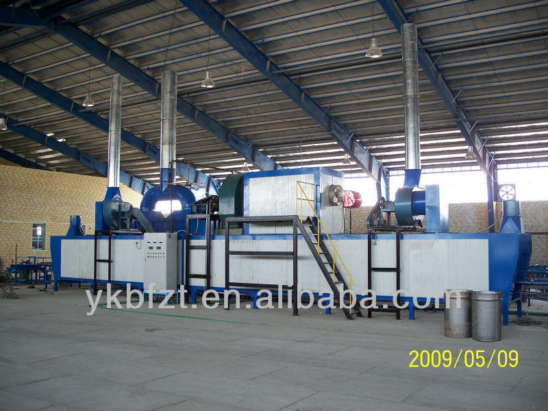 Outside paint spraying machine for steel drum making line 208Lt. or 200 liter steel drum manufacturing equipment