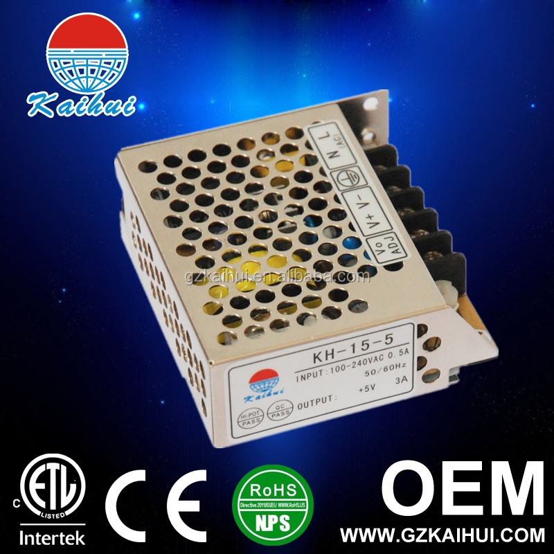 24V DC to DC conversion 15W switching power supply for car from guangzhou manufacture