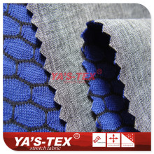 Three - layer composite soft shell fabric, cationic four - way elastic composite characteristics hexagonal mesh