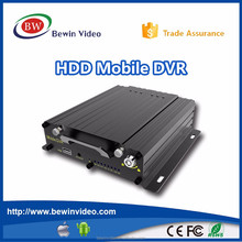 China professional vehicle dvr Manufacturers 4ch anti-shock hdd mobile drive recorder 720P ahd mobile dvr