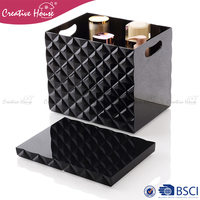 Portable diamond design surface PS/ ABS plastic make up display storage box makeup case professional