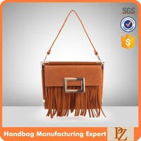 5367 Latest Design Brown Elegant Fringe Suede Fashion Shoulder Bag, Shoulder Long Strap Bag for Girls