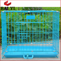 Welded Wire Folding Dog Crate With Accessory---ABC Good Quality Plastic Tray