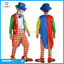 Popular carnival parade use adult clown costume for sale