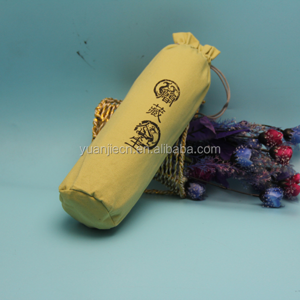 custom logo printed round bottom cotton bags,promotional wine bottle packing bags,bottle cotton holder carrier