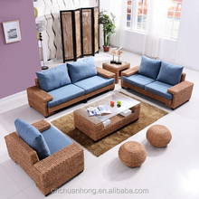 Rattan furniture office rattan sofa The ratten makes up natural sectional living room sofa Bamboo Rattan and Wicker Furniture