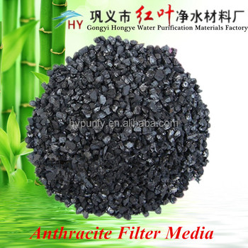 Hongye Brand First Class High Quality Filtering Basin Application Filter Media Anthracite Coal Price
