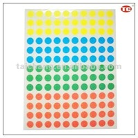 Colored Dot Self Adhesive Sticker Label