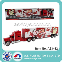 Large electronic plastic toy trucks and trailers with light and music