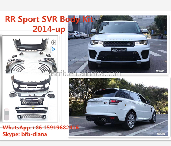 High quality RR range-rover Sport 2014-up PP material body kits car bumper auto spare parts
