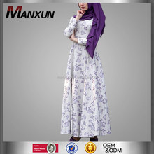 Cheaper Women Latest Printing Design Cotton Islamic Wear Turkish Clothes For Women Muslim Wholesale Abaya Turkey Dress