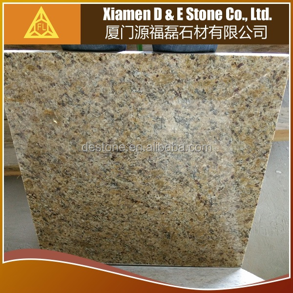 Polished Sincere Granite Flooring Tiles Brazil Gold Yellow