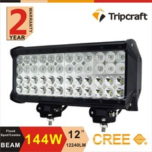 144W C ree 12 volt straight led light bar 4x4 car accessories for truck off road vehicle