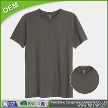 O Neck Design Men Cotton Blank OEM T shirt Soft textile With Quality No Label