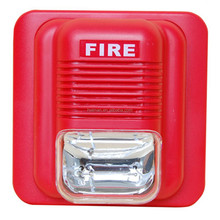 DC 12V to 24V fire alarm siren with sound and flash output