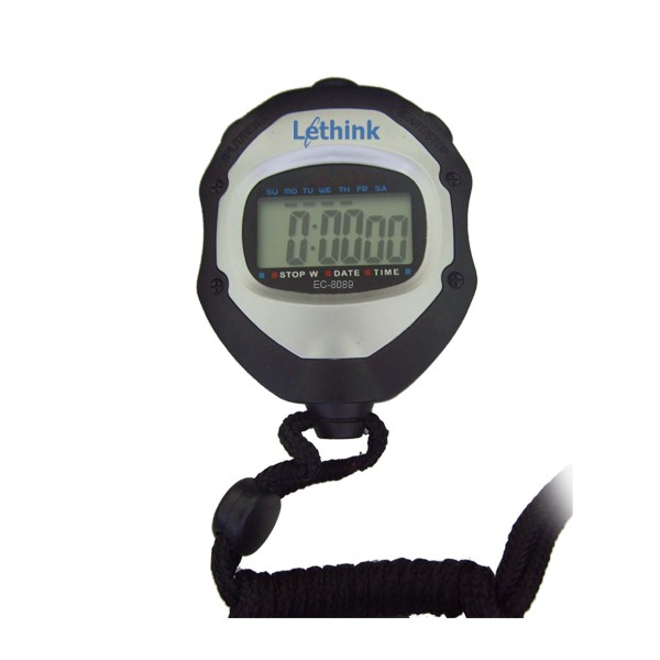 Digital sport watch pedometer stopwatch with lanyard
