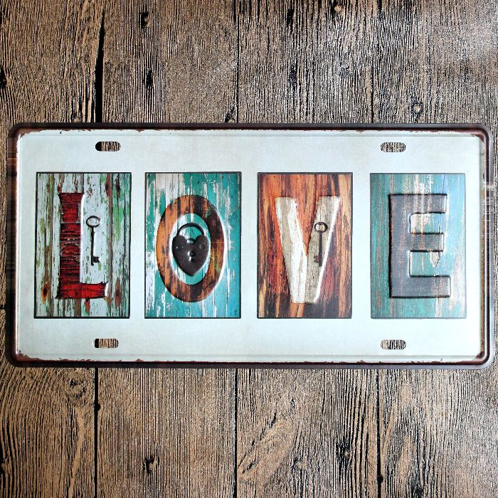 Love Motorcycles Car Metal License Plate Vintage Home Decor Tin Sign Bar Pub Garage Metal Sign Wall Poster Plaque