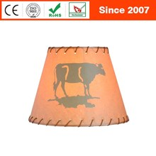 Creative cows printing cube porcelain lamp shade machine