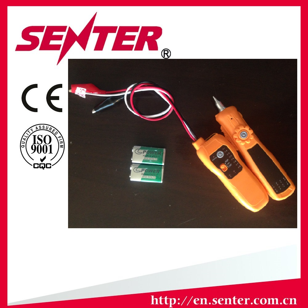 ST206 RJ11 RJ45 Network LAN Cable Electric Wire Finder Tracker Tester,9v DC battery