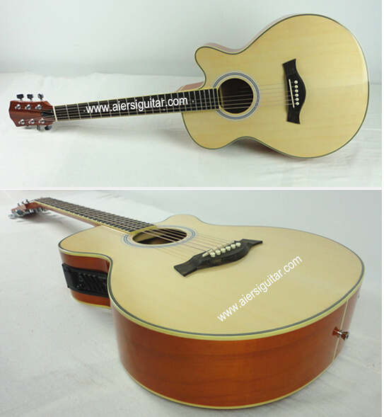 Aiersi High Quality OM style Laminated Electric Acoustic folk guitar