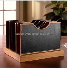 Eco-friendly office stationery handmade wooden document file holder