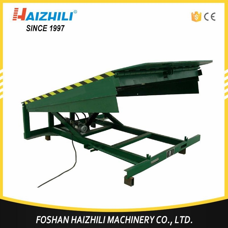 Green new type adjustable legs mobile loading ramp and dock leveler