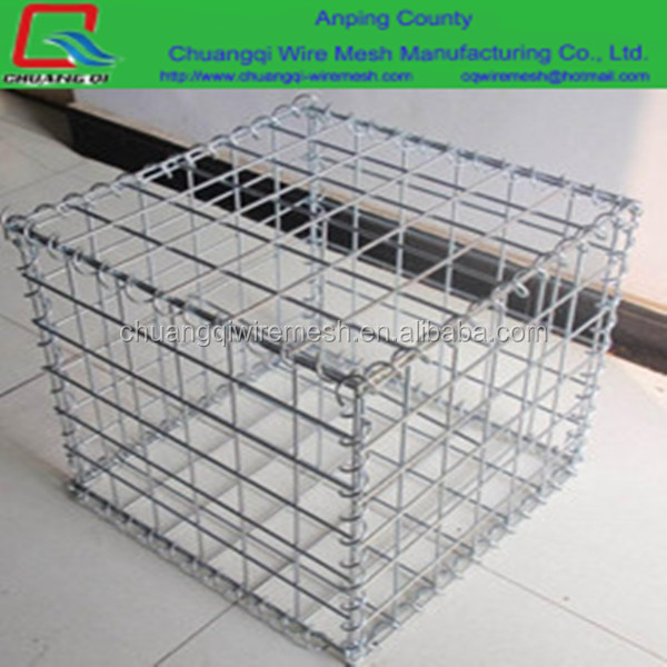 60x60 galvanized welded gabion cages rock retaining wall / Gabion stone cage for retaining wall / Gabion box
