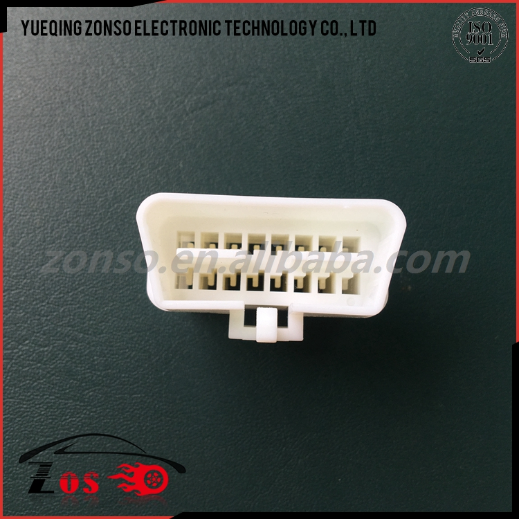 white 16 way obd2 female cable connector usb