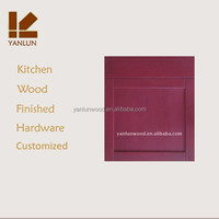 ready to sell china factory red color shaker design solid maple wood porte de cuisine