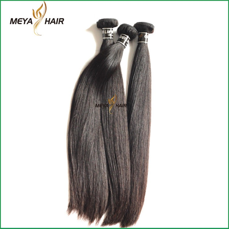 Flawless natural color hair bundle real mink silky straight wave hair weaving of new products 2017 innovative products