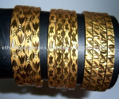 Gold plated BANGLES , SZ 2.12 XXXL - SALE