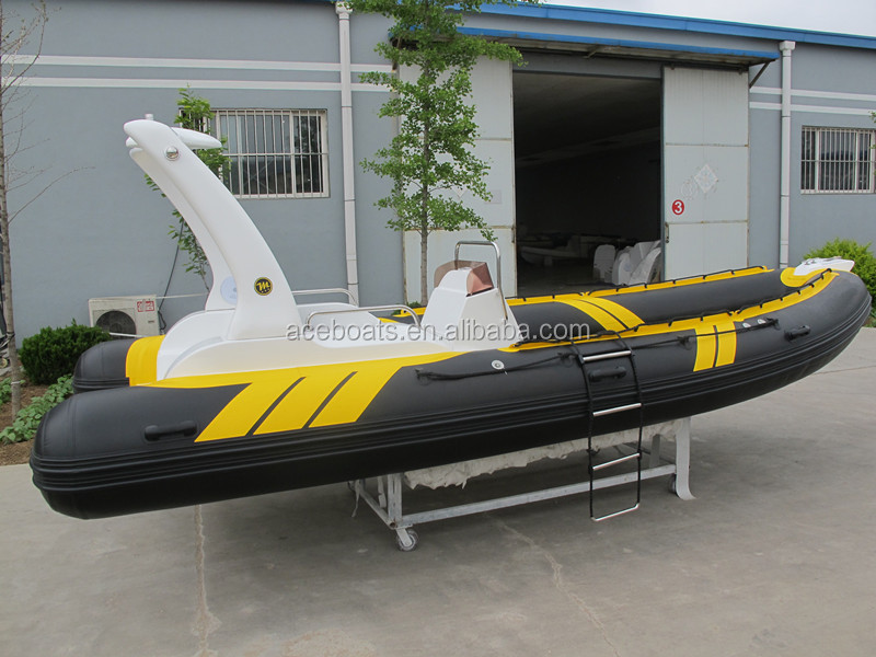 Rigid hull fiberglass inflatable boat rib boat 580