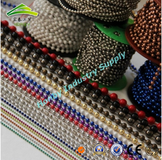 Decorative 1-12mm Size Colorful Wholesale Metal Beaded Ball Chain