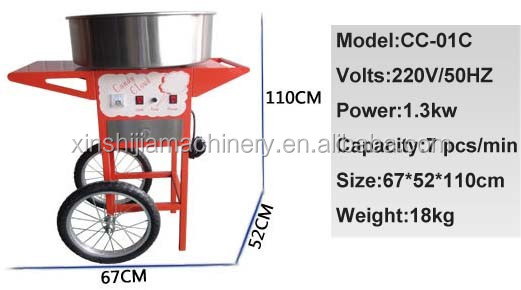 Different flavors cotton candy floss machine
