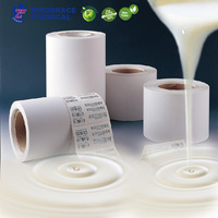 Excellent peel performance high viscosity properties water based acrylic adhesive for double sided pvc tape
