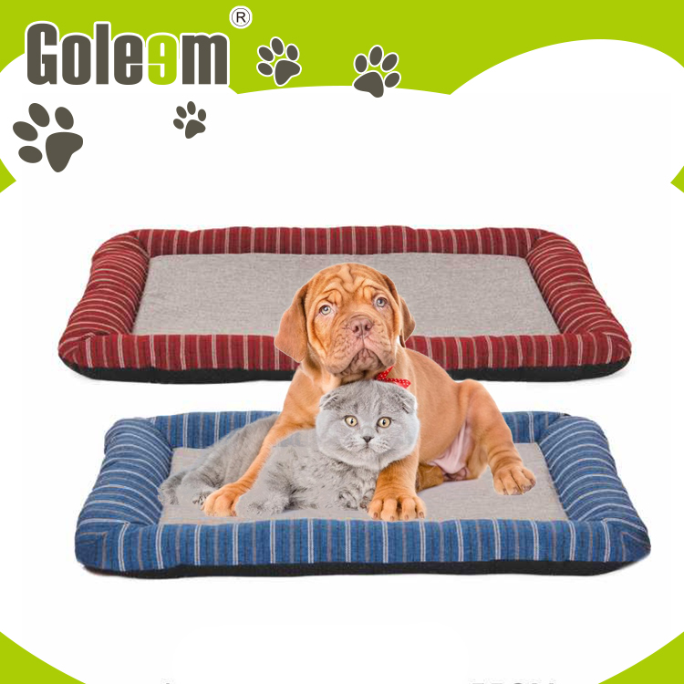 lightweight warm plush dog beds with removable cushion