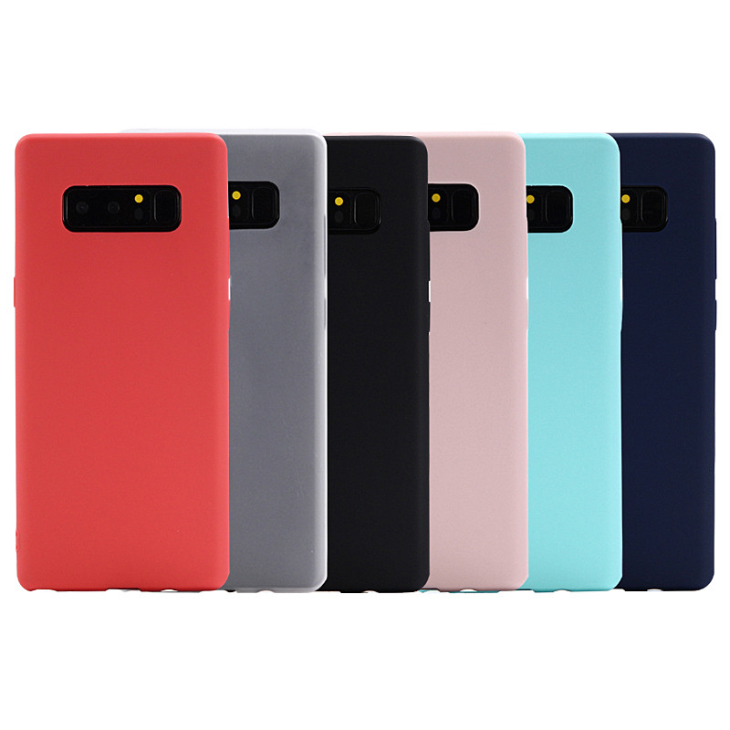 Solid Color Matte TPU Case for Samsung Galaxy Note 8 Silicone Case Phone Cover