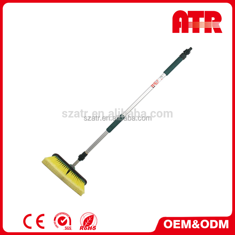 1.8M flow-through aluminum pole water flow car cleaning rotary brush