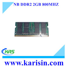 Bulk price ddrII 533 667 800 mhz memory ram 2 gb for notebook computer