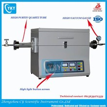 Laboratory 1200C horizontal vacuum quartz tube furnace/tube furnace with touch controller