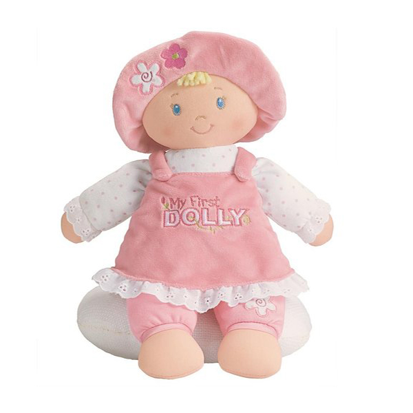 Wholesale soft stuffed girl baby doll toy plush cuddle rag doll for kids