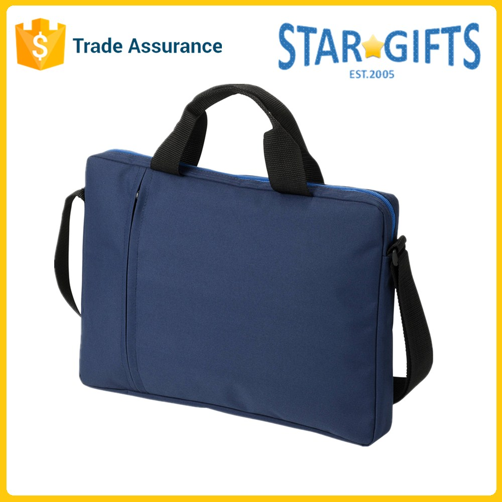 Navy 15 inch Custom Polyester Mens Laptop Computer Bags For Business Travel